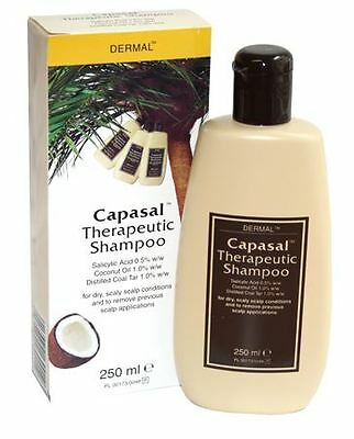 Capasal Therapeutic Shampoo 250ml Dry Itchy Scaly Scalp Cocunut Oil Coal Tar
