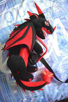 Cosplay Costume Plush/Soft Toy Dragon Shoulder Bag/Backpack/Buddy black and red