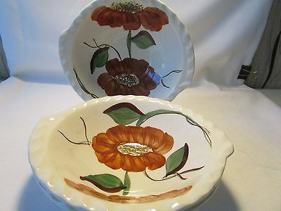 Vintage (3) Three Salad Cereal Zinnia Design Blue Ridge Southern Potteries China
