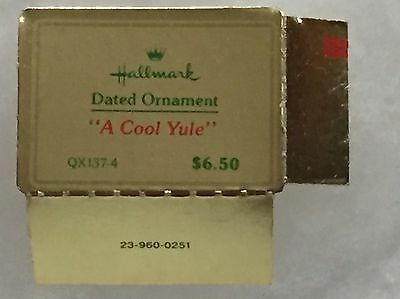 TAG ONLY for Hallmark Ornament 1980 FROSTY FRIENDS 1st in Series COOL YULE