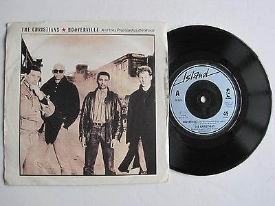 "THE CHRISTIANS - HOOVERVILLE - 7"" 45 rpm vinyl record"
