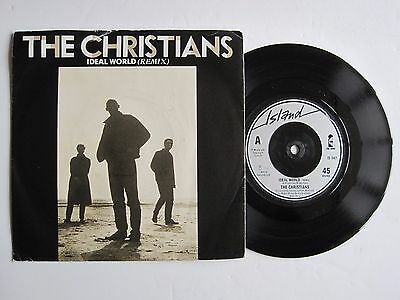 "THE CHRISTIANS - IDEAL WORLD (REMIX) - 7"" 45 rpm vinyl record"