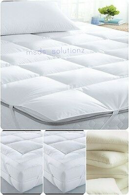 Natural Luxury Duck Feather & Down Mattress Topper Thick Elasticated Matress