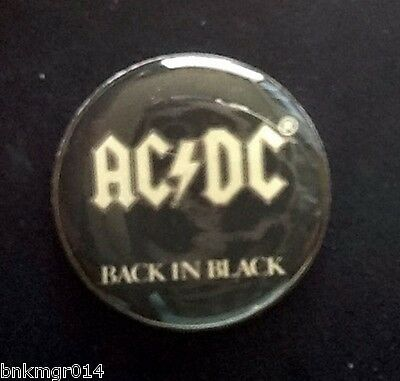 AC/DC Back in Black Novelty Tour Collection Tack Pin New!