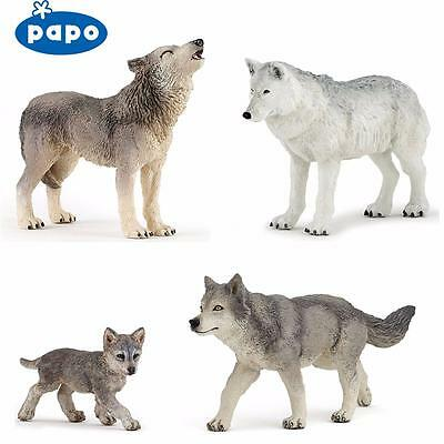 PAPO Wild Animal Kingdom WOLVES - Choice of 5 different Wolf with with Tags