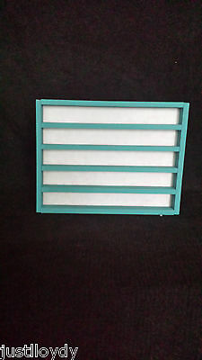 New** 50. thimble display rack in Teal Blue