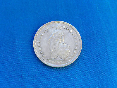 1943 Switzerland 1 Franc Silver Coin