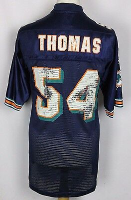 THOMAS #54 Miami Dolphins American Football Jersey Reebok NFL Mens Medium