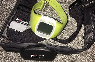 Polar FT40 Green Sports Training Watch & Heart Rate Monitor Chest Strap RRP £70