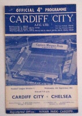 Cardiff City v Chelsea First Division 1961-62