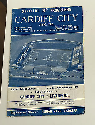 CARDIFF CITY v LIVERPOOL 6-1 GAME 1957-58