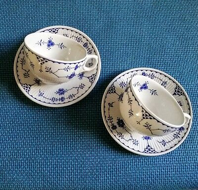 Furnivals  *denmark* Two Cups + Matching Saucers ##excellent##