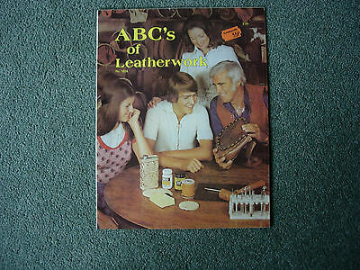 ABC's of leatherwork instruction how to booklet Tandy Leather work