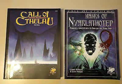 Call of Cthulhu 6th edition + Masks of Nyarlathotep, manuali di gioco