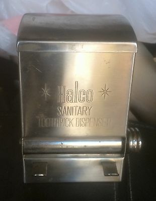 Vintage Halco Stainless Steel Toothpick Sanitary Dispenser Roller Some Rust