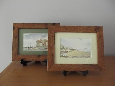 2 X Small Framed Norfolk Watercolour Scenes By Ron Brooks