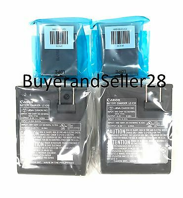 Genuine OEM Canon Rebel Battery x2 w/ Charger x2 Fits T3/T5/T6/T7 LP-E10 LC-E10