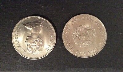 Elizabeth II and Prince Philip coins dated 1972