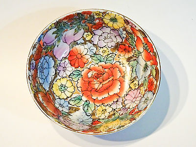 Chinese Porcelain Thousand Flowers Handpainted Bowl