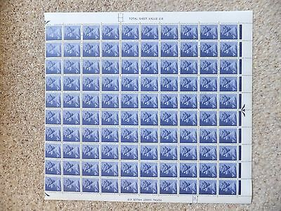 SG X883 9p. FCP. Machin. Definitives.Half sheet of 100 MNH stamps. Cyl 12Dot