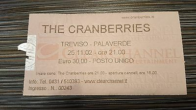 The Cranberries Ticket - Italy Treviso 25 November 2002