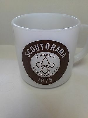1975 Boy Scout Federal milk glass diner style mug
