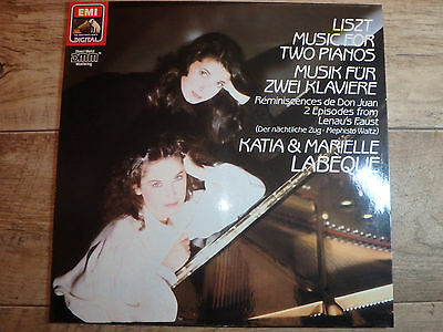 ASD 1436451 - LISZT - Muisc For Two Pianos K & M LABEQUE - Ex Con signed LP