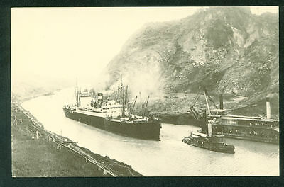 Panama Canal Company OPENING DAY Steamer Ship Postcard