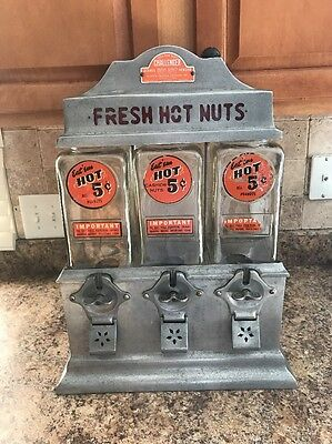 Vintage Antique 1947 Ajax Hot Nut Challenger Machine Coin Operated