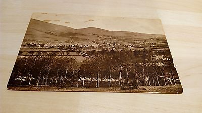 Aged & Marked Postcard Dollar, Clackmannanshire from South, Posted June 1920