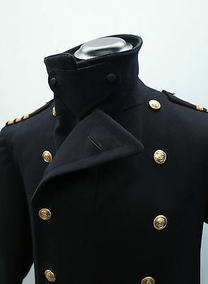 1940's Coat Vtg Royal Navy Greatcoat WW2 British Officers Coat WW2 Uniform Navy