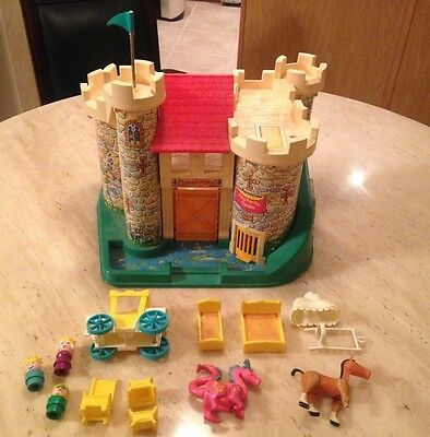 Fischer Price Little People Family Castle Toy Playset & Accessories Vintage!