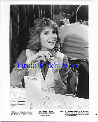 """Jill Clayburgh Promotional Photograph """"Silver Streak"""" Smiling Seated 1976"""