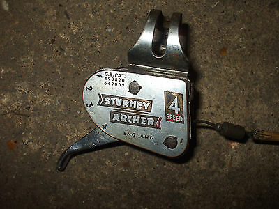 vintage raleigh 4 speed sturmey archer gear lever and cable