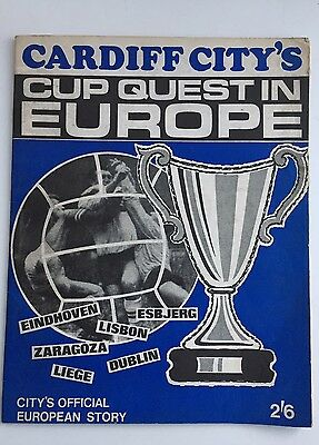 Cardiff City's Cup Quest in Europe Special Magazine 1968