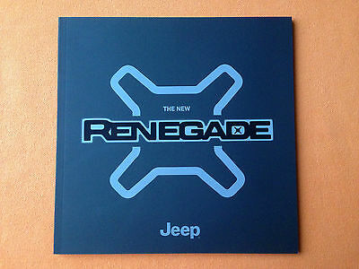 Jeep Renegade Longitude Limited marketing paper brochure January 2015 print MINT