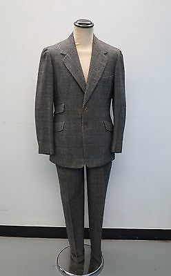 Daks Bespoke Suit Vtg Prince of Wales Suit dated 1950 Suit Vtg Simpsons Wool