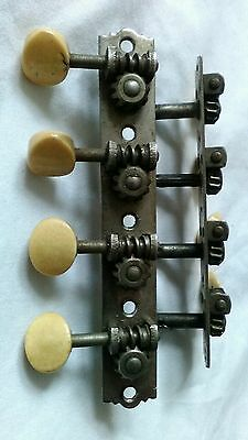 Antique Martin, Waverly? Mandolin Tuners, Reverse Rotation, For Parts Or Repair!