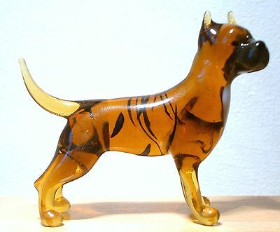 """Hand Blown """"murano"""" Glass Collectable Pit Bull Terrier Dog  Figurine"""