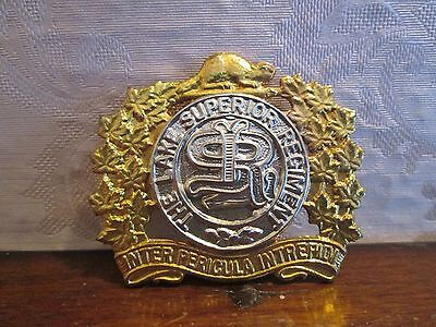 WWII The Lake Superior Regiment Badge marked W Scully Ltd Montreal