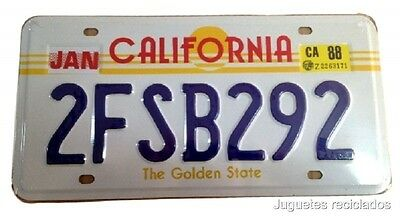 Matricula California The Golden State January License Plate 30X15 Cms