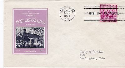 First day cover, Scott #836, Sweden,  Planty 47B, Ioor cachet, 1938