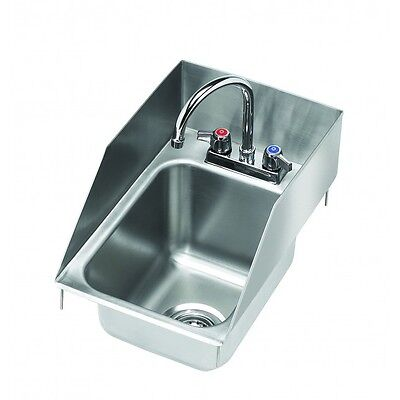 Krowne Metal HS-1225 One Compartment Drop-In Hand Sink w/ Splash Guards