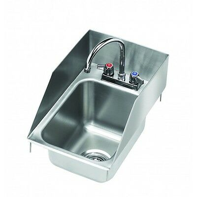 Krowne Metal One Compartment Drop-In Hand Sink W/ Splash Guards - Hs-1225