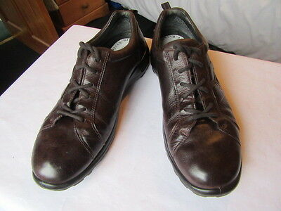 Ecco Soft Lace-Up Ladies' Shoes In Brown Leather - Uk Size 7, Eu 40, Usa 9-9.5