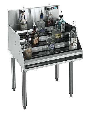 "Krowne Metal Standard 1800 Series 12""w Underbar Liquor Bottle Display - 18-12Rd"