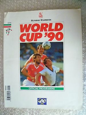 1990 World Cup Official Programme- World Cup '90 Sunday Express (Org*)