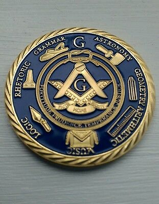 * Uk Delivery * Fine Gold Plated Masonic Freemason Emblem Token Coin