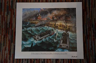D Day Assault Queens Own Rifles of Canada  Artwork Drawing Capt Orville Fisher