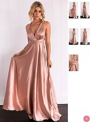 Mocha Rose gold Party Bridesmaid dress Size 12